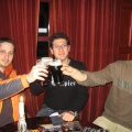Yuval, Ofir and Yaniv partying after show, Aberdeen Jazz Festival, Scotland 2007
