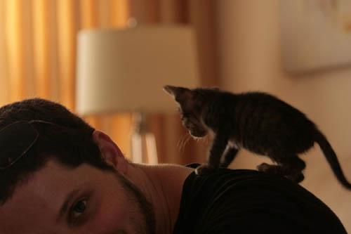 Yuval & Carmella the cat